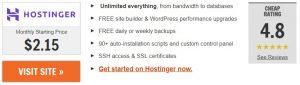 Hostinger.com free web hosting