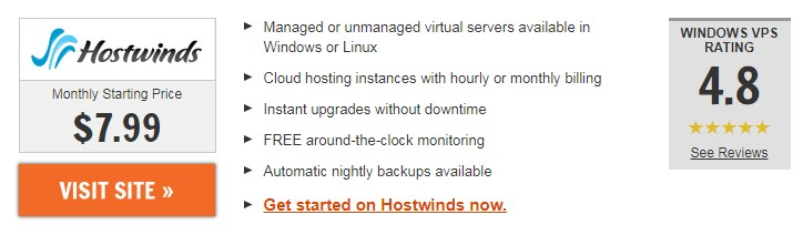Hostwinds.com windows vps usa