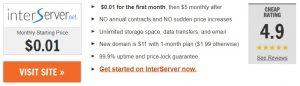 InterServer.net free webhosting