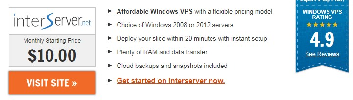 InterServer.net windows vps usa